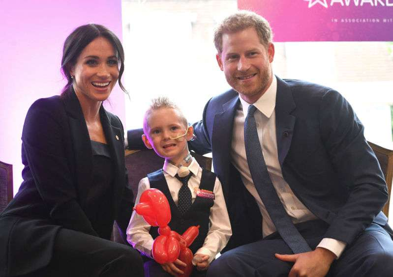 Prince Harry and Meghan Markle at WellChild Awards