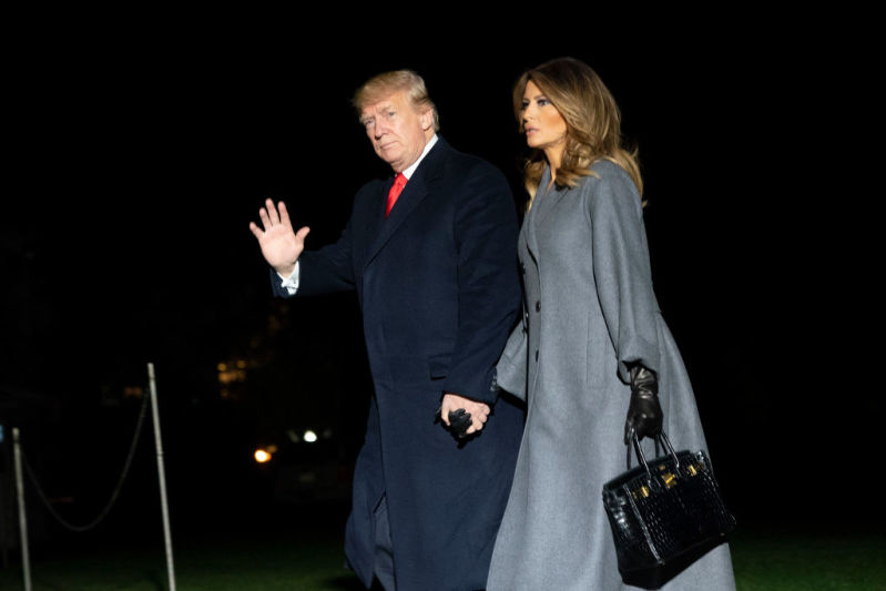 Melania Trump Showed Off Her Exquisite Taste With A Captivating And Trendy Oversized Coat