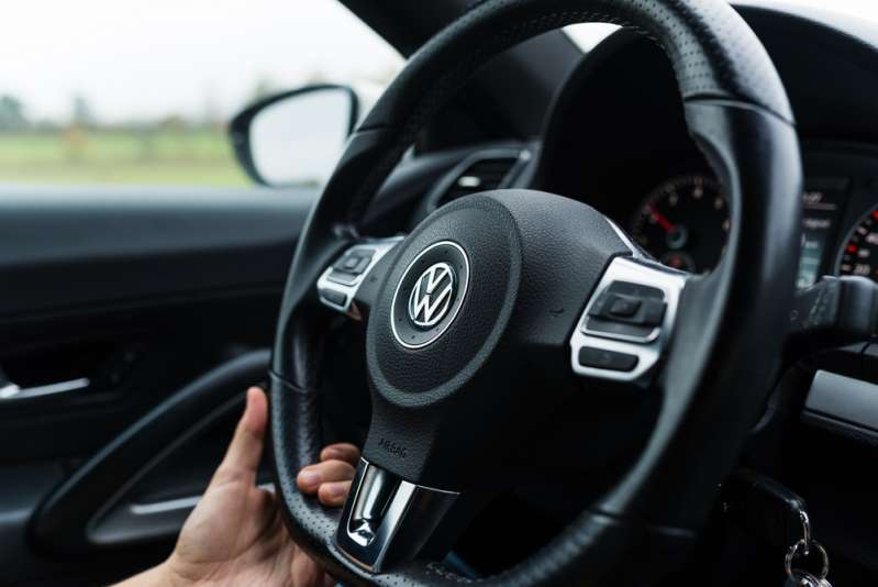 Not So Macho After All: What A Man's Driving Habits Can Tell About HimBamberg, Germany: Circa November 2015 - Steering wheel of a VW Scirocco