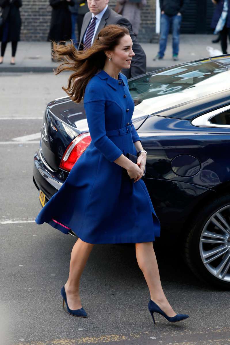 Kate Middleton Shows Off Her Slim Legs As She Steps Out In A Gorgeous Royal Blue Coat Dress