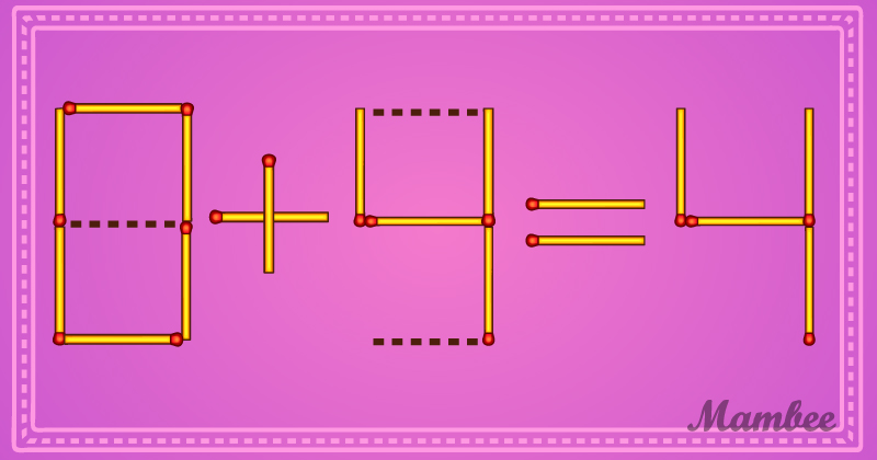Boost Your Logical Thinking! Can You Move Three Matchsticks And Make The Equation Right?