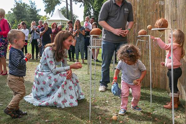 """Truly The Children's Princess!"" Fans Applaud Kate Middleton's Motherly Nature As She Danced And Played With Kids At Garden Launch-"