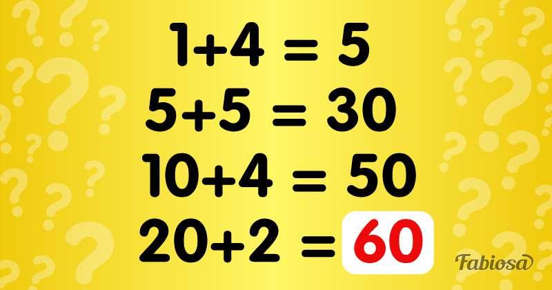 Задачка на логику: сможете ли вы понять закономерность?logic test, test