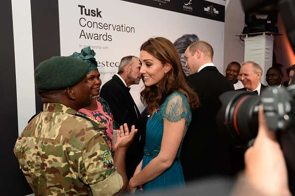 Kate Middleton Is The Picture Of Perfection In Recycled Teal Dress At The Tusk Conservation Awardskate middleton jenny packham gown