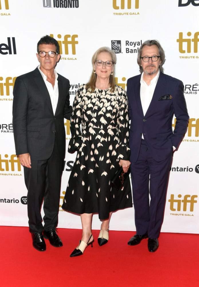 """""""Diva diva"""". À 70 ans Meryl Streep resplendit dans une robe noire à fleurs pour la première de The Laundromat"""