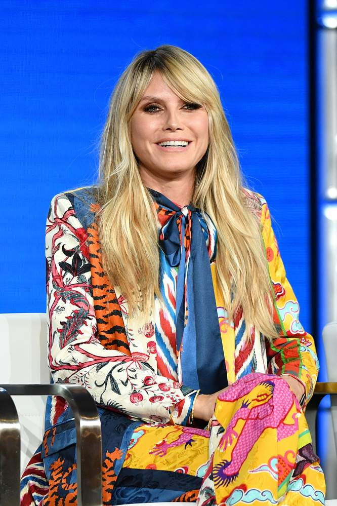 Shine Bright Like A Diamond! Heidi Klum Boldly Outshines Everyone In A Dragon-Printed Libertine PantsuitShine Bright Like A Diamond! Heidi Klum Boldly Outshines Everyone In A Dragon-Printed Libertine Pantsuit