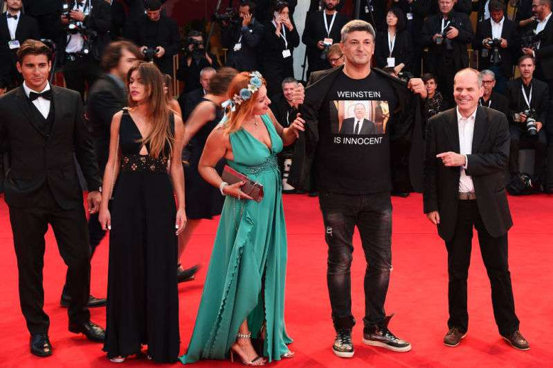 Italian filmmaker with a t-shirt that says