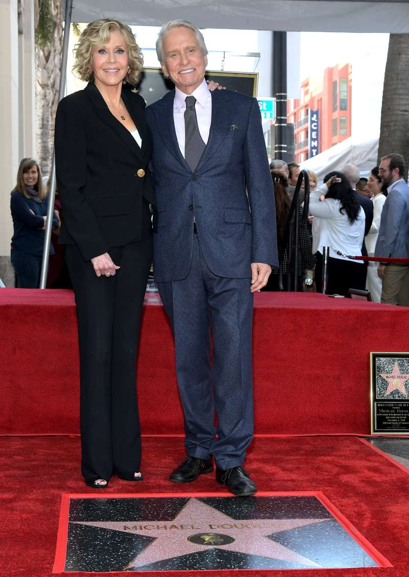 Reunion After 39 Years: Glamorous Jane Fonda Awarded Her Ex Co-Star Michael Douglas With A Hollywood Star