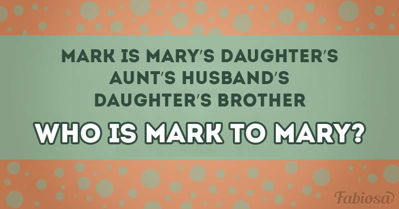 Family Ties: How Fast Can You Figure Out Who Mark Is To Mary?
