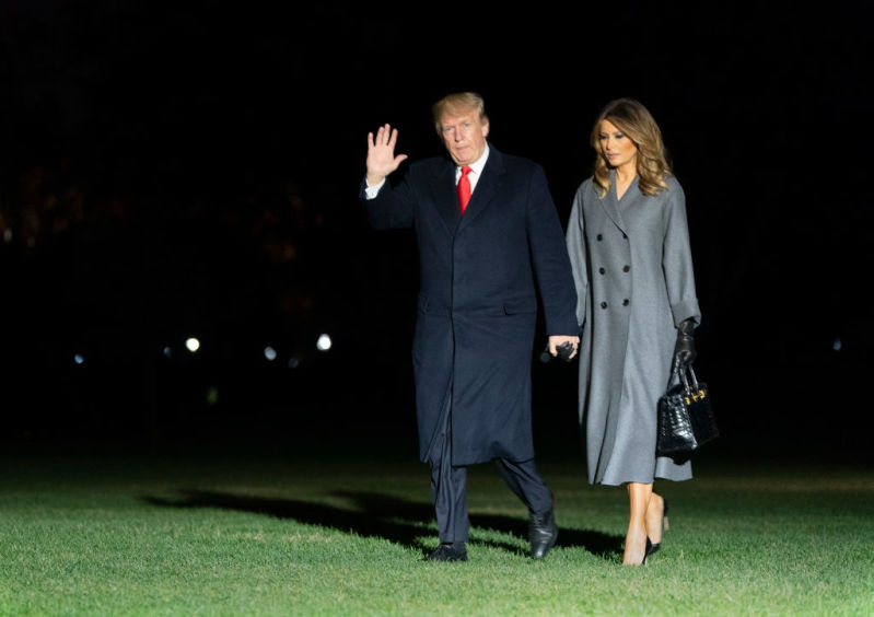 Melania Trump Showed Off Her Exquisite Taste With A Captivating And Trendy Oversized Coatmelania trump coat