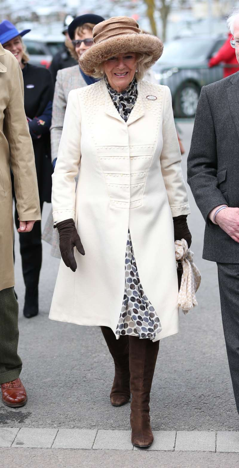 Such An Unexpected Choice! Duchess Camilla Glows In An Embroided Cream Coat At Cheltenham FestivalSuch An Unexpected Choice! Duchess Camilla Glows In An Embroided Cream Coat At Cheltenham FestivalSuch An Unexpected Choice! Duchess Camilla Glows In An Embroided Cream Coat At Cheltenham Festival