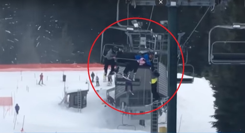 8-Year-Old Dangling From A Ski Lift Was Saved By A Group Of Quick-Thinking Teens (Video)