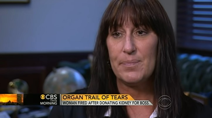 Is There Foul Play? Woman Claimed She Was Fired After Donating A Kidney To Help Her BossIs There Foul Play? Woman Claimed She Was Fired After Donating A Kidney To Help Her BossIs There Foul Play? Woman Claimed She Was Fired After Donating A Kidney To Help Her Boss