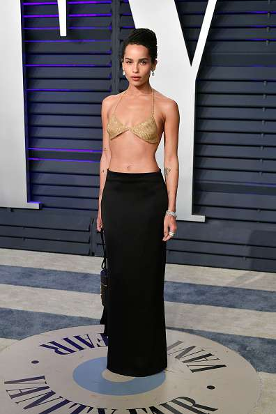 Zoe Kravitz Astounds All In A Gold Bra Top Worth $24,000 At Oscars After-Party. Would You Consider It As An Indecent Outfit Or Freedom?