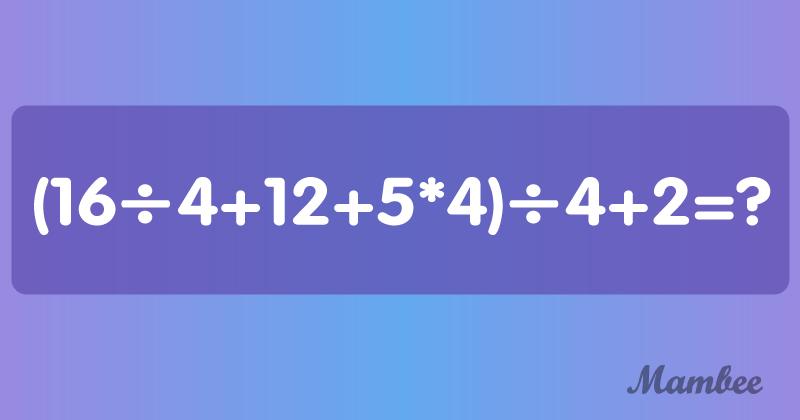 Voici un problème de mathématiques plus délicat qu'il n'y paraît, saurez-vous le résoudre ?Voici un problème de mathématiques plus délicat qu'il n'y paraît, saurez-vous le résoudre ?