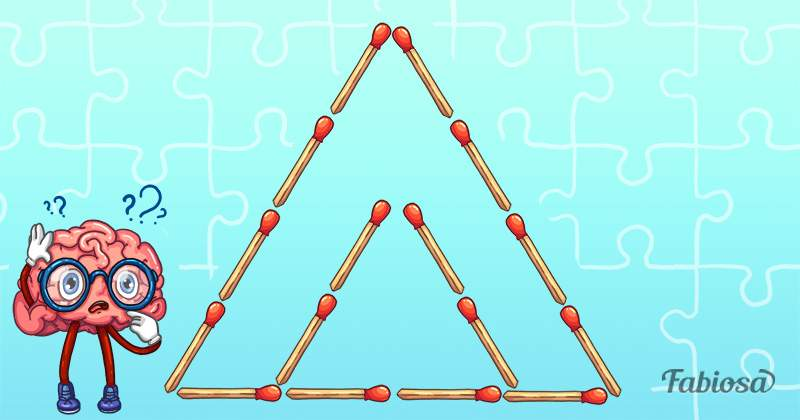 Brain Workout! Can You Figure Out How To Create 3 Triangles By Moving Only 2 Matches?matchstick puzzles, move 2 matches to make 3 triangles, brain teaser with matchsticks