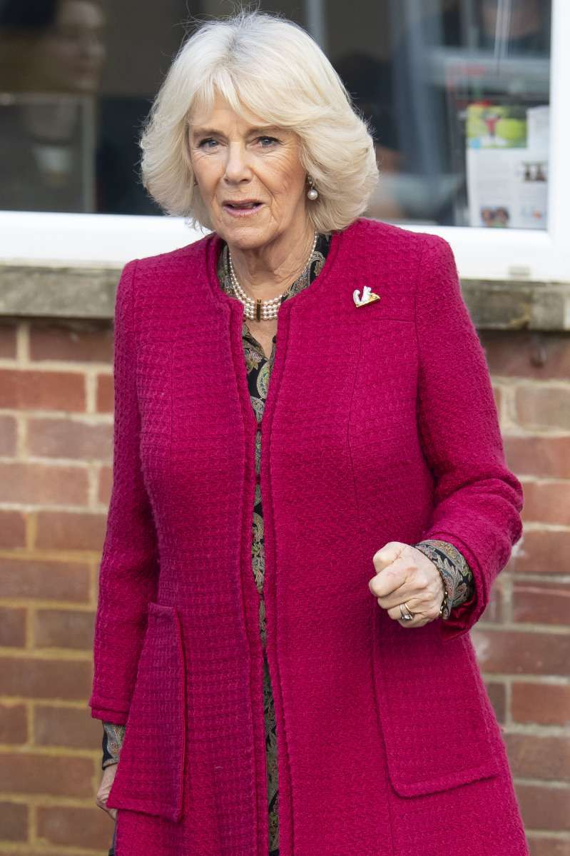 Ladies In Red! Duchess Camilla Channels Meghan Markle, Rocking A Chic Red Coat In SwindonLadies In Red! Duchess Camilla Channels Meghan Markle, Rocking A Chic Red Coat In SwindonLadies In Red! Duchess Camilla Channels Meghan Markle, Rocking A Chic Red Coat In Swindon
