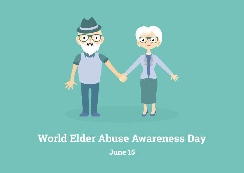 It Should Never Happen To Anyone. Elder Abuse Isn't A Myth - It's A Terrifying RealityWorld Elder Abuse Awareness Day vector image
