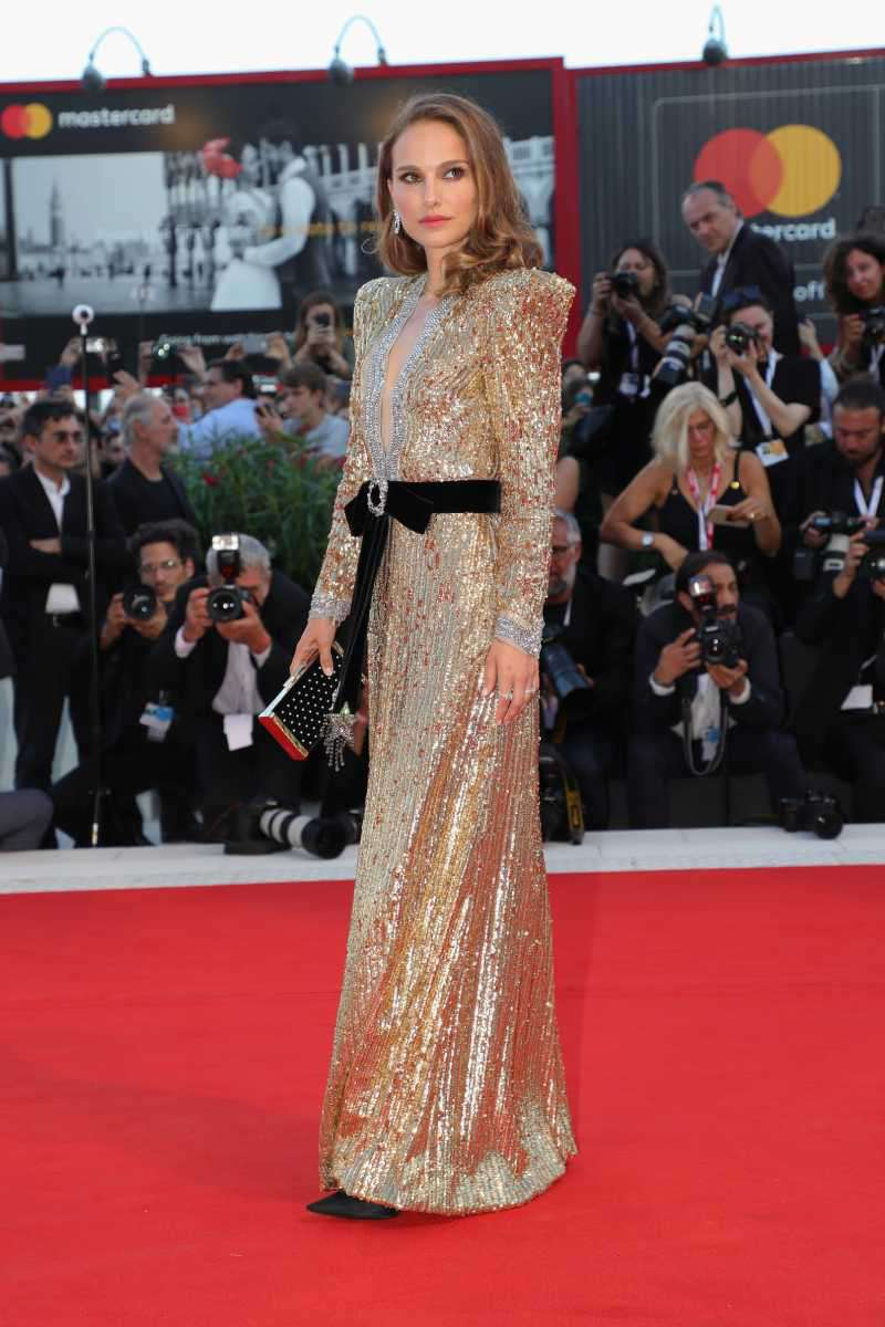 Natalie Portman walks the red carpet ahead of the 'Vox Lux' screening during the 75th Venice Film Festival