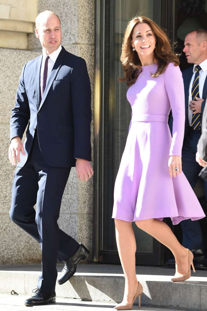 Duchess Kate Turns Heads In A Previously Worn Lilac Dress During Her First Joint Outing With Prince William After Maternity Leave