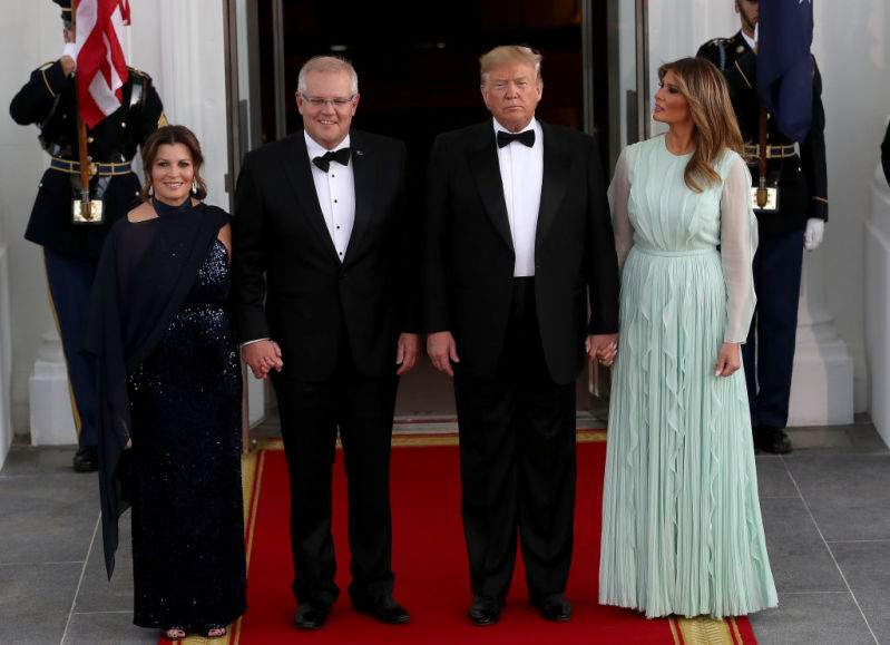 Melania Trump Looked Unearthly In A Flowy & Wavy Aqua Gown At State Dinner Held For Australian Prime MinisterMelania Trump Looked Unearthly In A Flowy & Wavy Aqua Gown At State Dinner Held For Australian Prime MinisterMelania Trump Looked Unearthly In A Flowy & Wavy Aqua Gown At State Dinner Held For Australian Prime Minister
