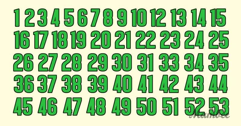 On dirait une simple séquence de nombres... Mais non ! Pouvez-vous trouver l'erreur ?