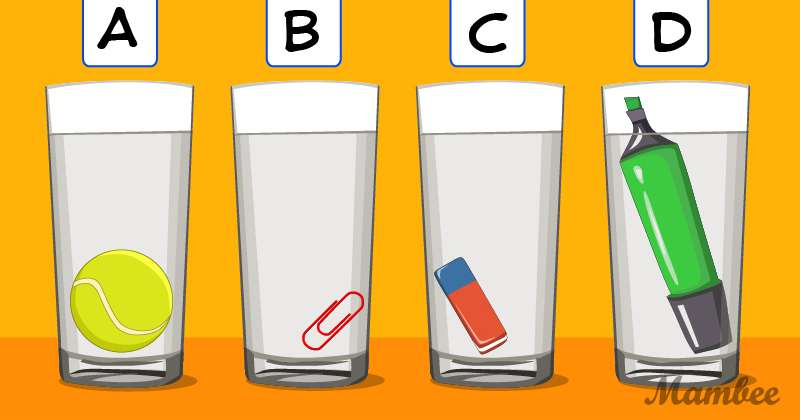 """Prueba de agilidad mental para gritar """"Eureka"""": ¿cuál de los vasos tiene más agua?"""