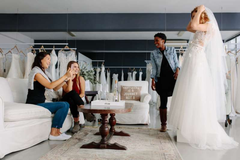 Bodybuilder Bride Tries On A Wedding Dress For The First Tim