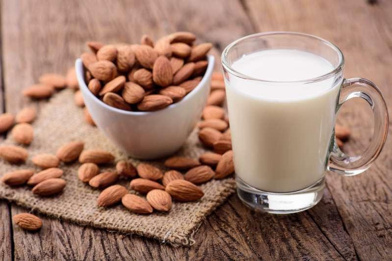 almond milk glass