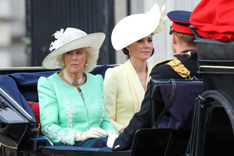 Queen-Worthy Style! Duchess Camilla Looks Gorgeous Like Never Before In A Mint Bruce Oldfield Gown At Trooping The ColourQueen-Worthy Style! Duchess Camilla Looks Gorgeous Like Never Before In A Mint Bruce Oldfield Gown At Trooping The Colour