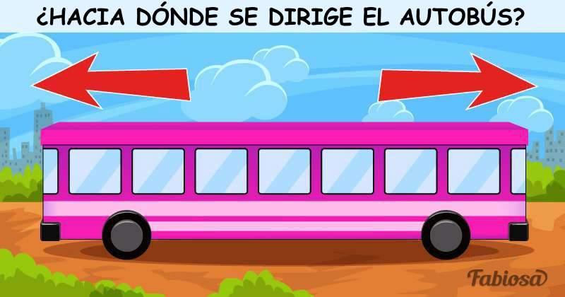 Desafío para toda la familia: hay que adivinar en qué dirección viaja el autobús de la imagen