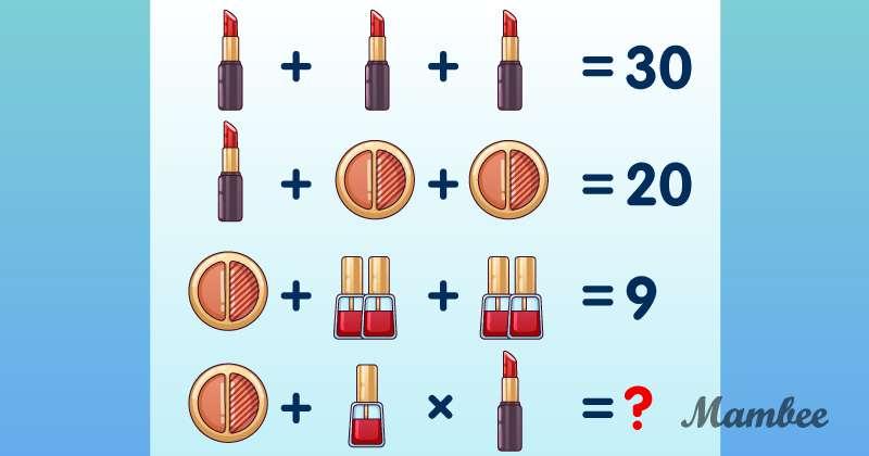 Das ideale Puzzle für Sie! Welche Zahl sollte anstelle des Fragezeichens stehen?