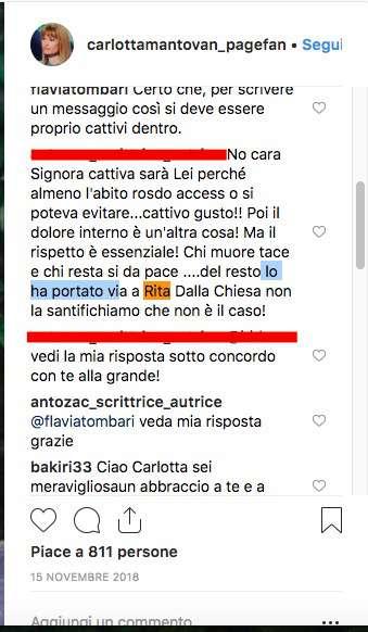 """Carlotta Mantovan attaccata crudelmente sui social a causa di Frizzi: """"Non ti seguo più!"""""""