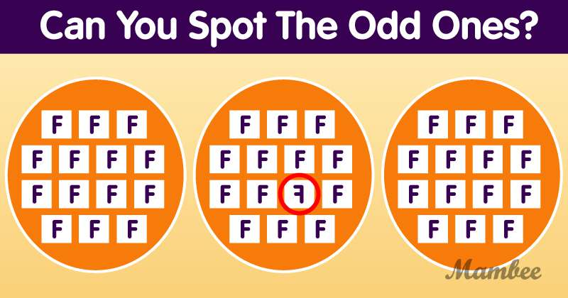 Simple Puzzle To Test Your Vision: Can You Spot The Odd Ones Out In One Minute?Simple Puzzle To Test Your Vision: Can You Spot The Odd Ones Out In One Minute?