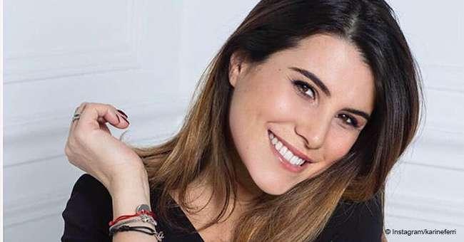 Karine Ferri La Co Presentatrice De The Voice Affiche Son Baby