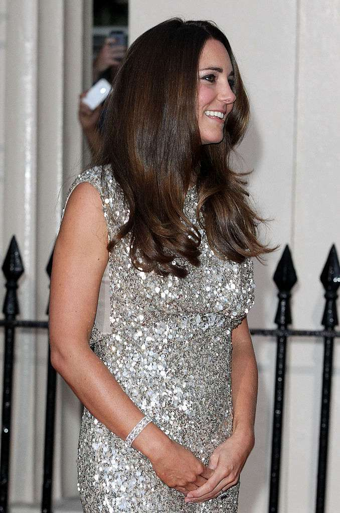 Shimmering Duchess: Kate Middleton's First Post-Baby Evening Gown Still Making Waves Years Later-