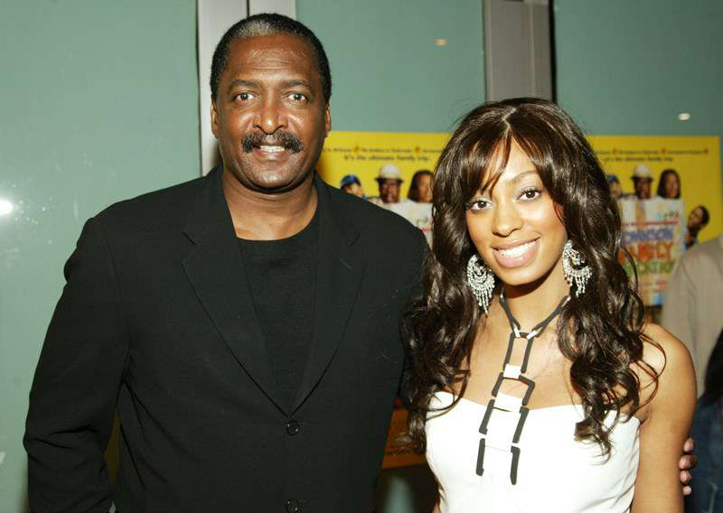 Actress Solange Knowles and her father Matthew Knowles