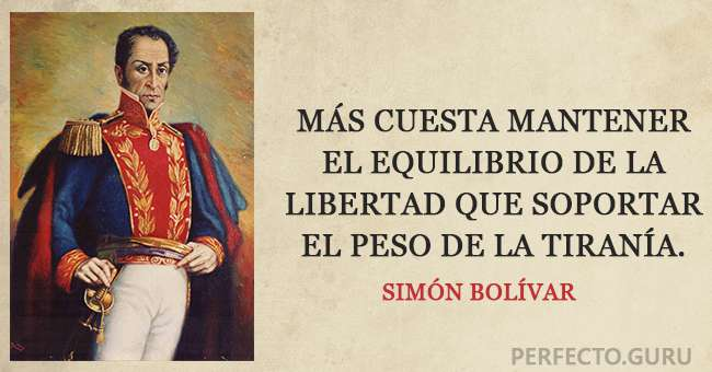 Las 20 Frases Más Exitosas De Simón Bolívar