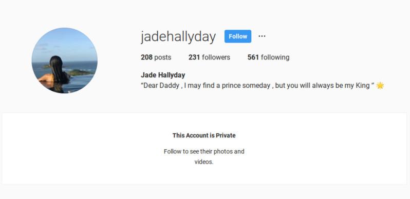 Le bouleversant message de Jade à son père Johnny Hallyday
