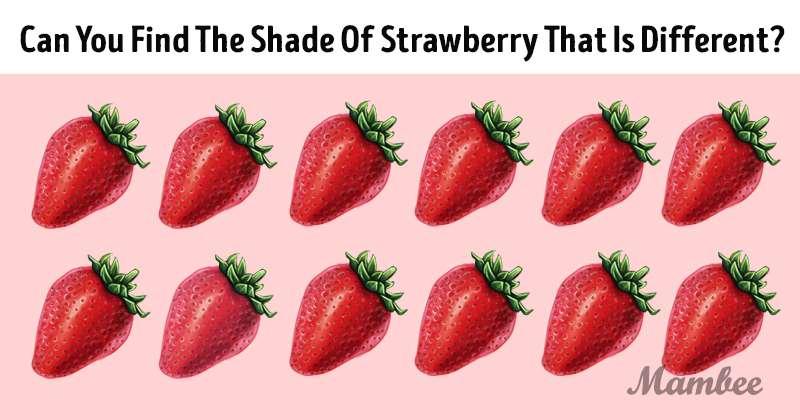 Bel test per gli occhi: vediamo se riesci a individuare la diversa tonalità di rosso sull'immagine
