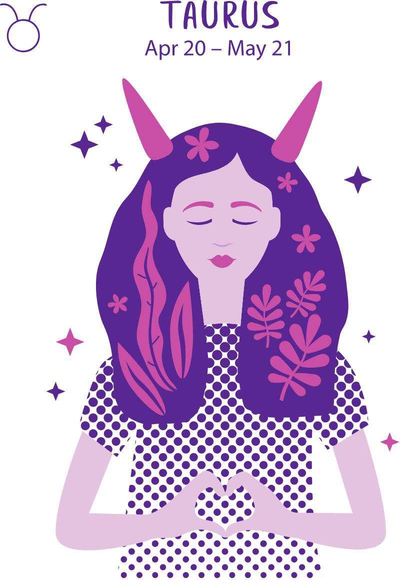 За какого мужчину не стоит выходить замуж, исходя из вашего знака зодиака?Taurus zodiac sign. Girl vector illustration.