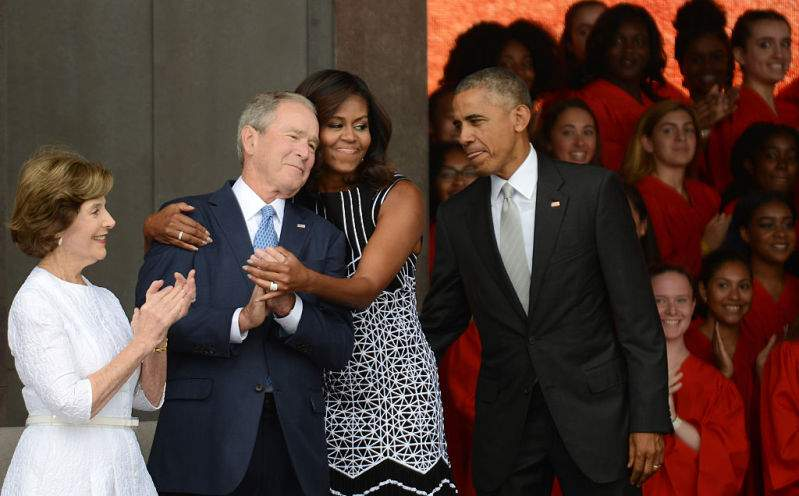 """Michelle Obama Defends Her Friendship With George W. Bush Even Though They """"Disagree On Policy""""Michelle Obama Defends Her Friendship With George W. Bush Even Though They """"Disagree On Policy""""Michelle Obama Defends Her Friendship With George W. Bush Even Though They """"Disagree On Policy"""""""