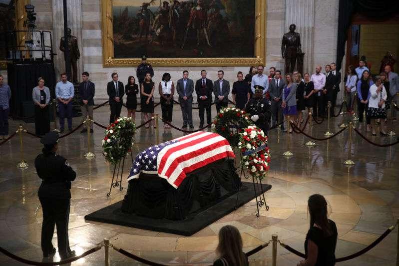 Funeral of John McCain, John McCain laid to rest