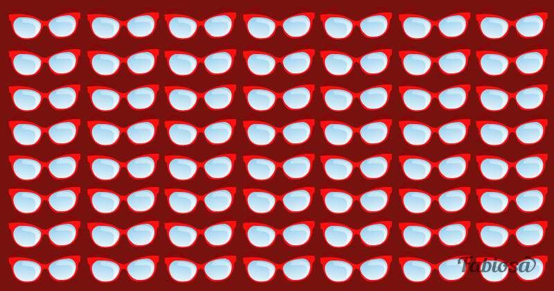 Presta atención a los detalles de la imagen: señala el par de lentes diferente a los demás