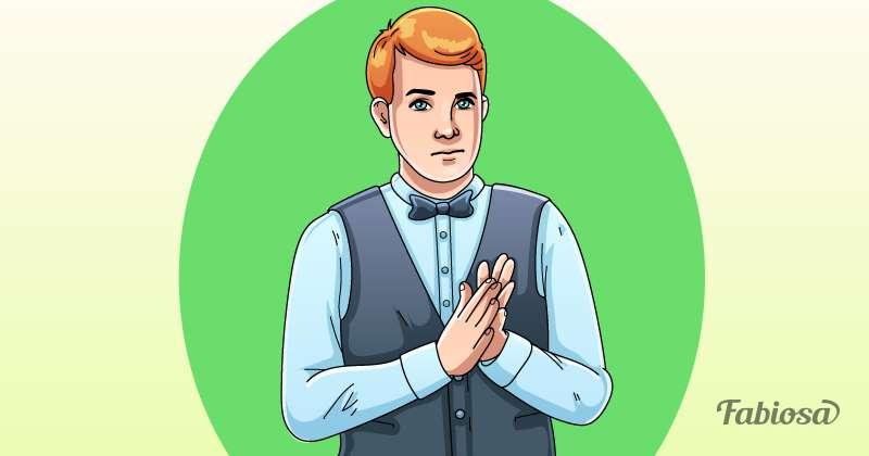 Körpersprache: Welcher der Kellner deutet an, dass er ein gutes Trinkgeld möchte?body language tips, body language waiter, what waiter want tips