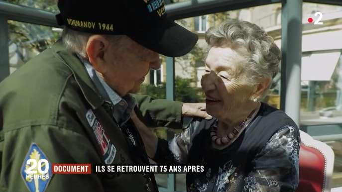 """""""Du hast nie mein Herz verlassen:"""" 75 Jahre nach ihrer Trennung kam ein US-amerikanischer Soldat zurück zu seiner Liebe in Frankreich"""