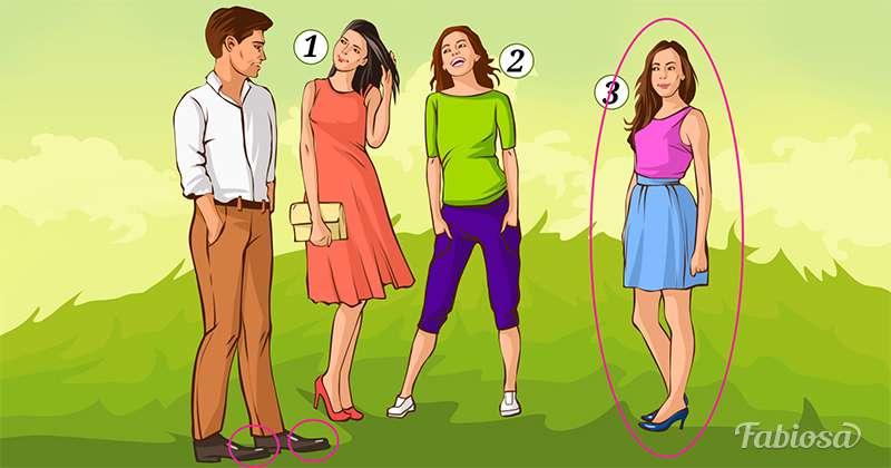 Langage du corps : quelle fille ce jeune homme préfère-t-il ?