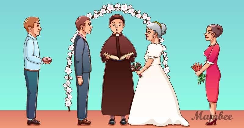 Entraînez votre sens de l'observation : qu'est-ce qu'il y a d'insolite dans ce décor de mariage ?
