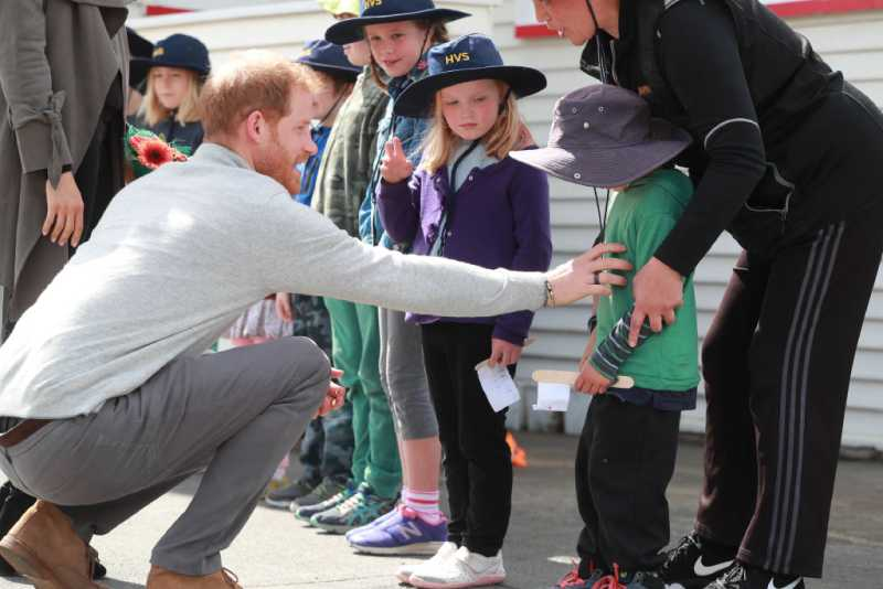 She'll Do It Her Way: Meghan Markle Plans To Raise Her Children Differently Than Kate Middleton, Reports SayPrince Harry, Duke of Sussex meets children during a visit to Marenui Cafe on October 29, 2018 in Wellington, New Zealand