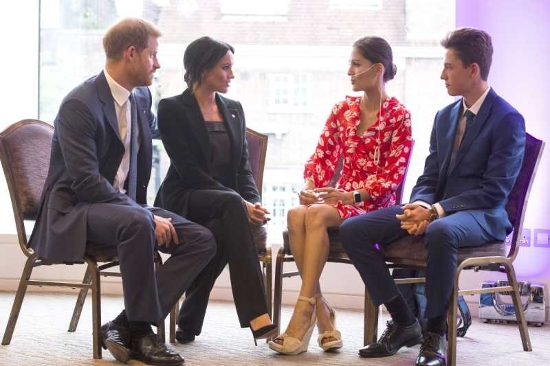 Meghan, Duchess of Sussex meets Melissa Granger at the WellChild awards at Royal Lancaster Hotel